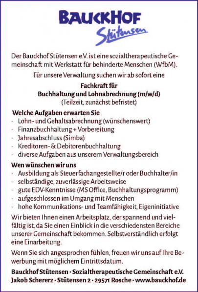 Bauckhof_Stuetensen_Stellenausschreibung